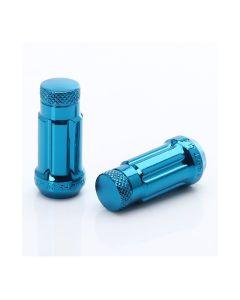 Dado forgiato JN3chiuso di colore blu, passo 12x1.25 e sede conica 60°.